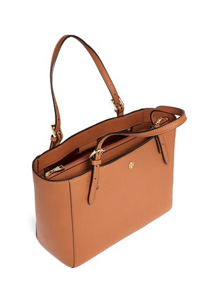 Detail View - Click To Enlarge - Tory Burch - 'York' small buckle saffiano leather tote