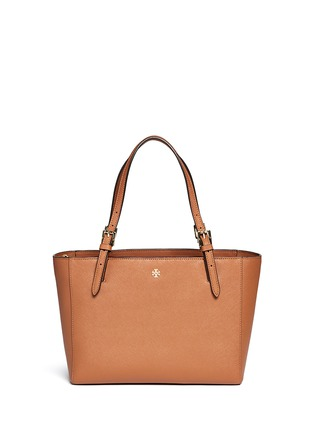 Main View - Click To Enlarge - Tory Burch - 'York' small buckle saffiano leather tote