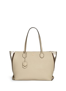 TORY BURCH'Robinson' side zip pebbled leather tote