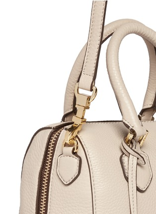 Detail View - Click To Enlarge - Tory Burch - 'Robinson' mini middy pebbled leather satchel
