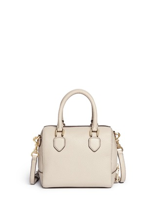 Back View - Click To Enlarge - Tory Burch - 'Robinson' mini middy pebbled leather satchel