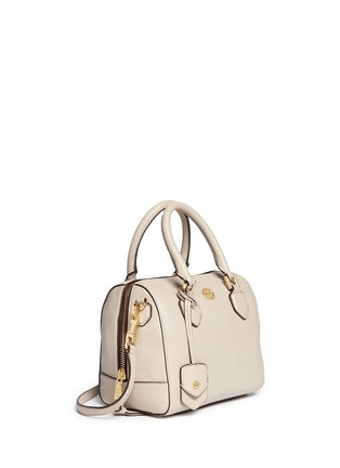 Front View - Click To Enlarge - Tory Burch - 'Robinson' mini middy pebbled leather satchel