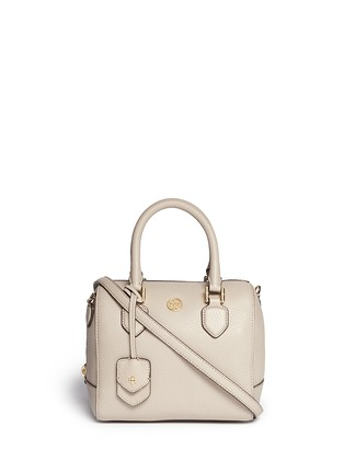 Main View - Click To Enlarge - Tory Burch - 'Robinson' mini middy pebbled leather satchel