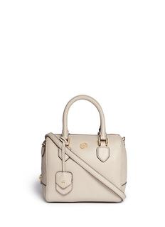 TORY BURCH'Robinson' mini middy pebbled leather satchel