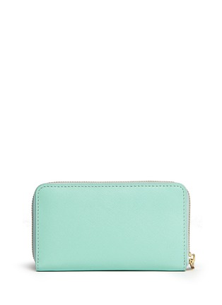 Back View - Click To Enlarge - Tory Burch - 'Robinson' mini zip continental wallet