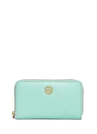Main View - Click To Enlarge - Tory Burch - 'Robinson' mini zip continental wallet