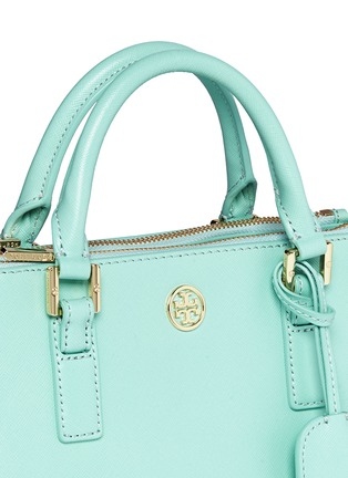 Detail View - Click To Enlarge - Tory Burch - 'Robinson' micro double zip saffiano leather tote