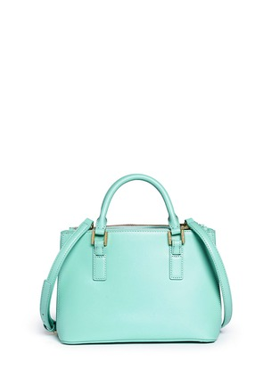 Back View - Click To Enlarge - Tory Burch - 'Robinson' micro double zip saffiano leather tote