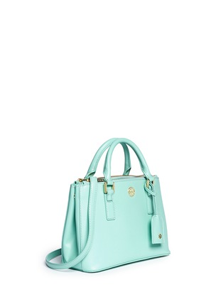 Front View - Click To Enlarge - Tory Burch - 'Robinson' micro double zip saffiano leather tote