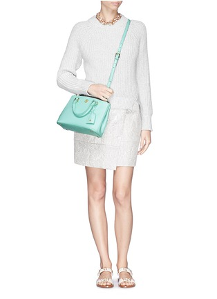 Figure View - Click To Enlarge - Tory Burch - 'Robinson' micro double zip saffiano leather tote