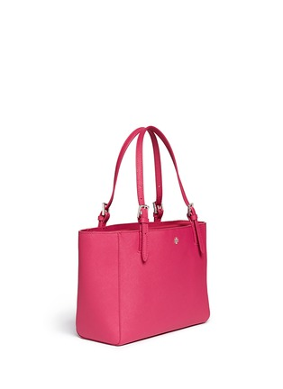 Front View - Click To Enlarge - Tory Burch - 'York' small buckle saffiano leather tote