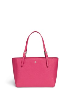 TORY BURCH 'York' small buckle saffiano leather tote