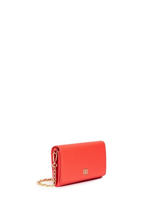 Front View - Click To Enlarge - Tory Burch - 'Robinson' saffiano leather chain wallet