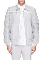 Seersucker bomber jacket
