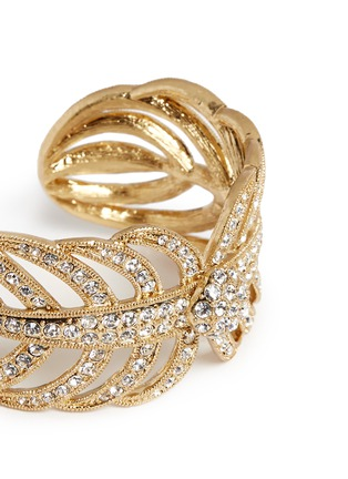 Detail View - Click To Enlarge - Lulu Frost - 'Drift' crystal pavé fern leaf cuff