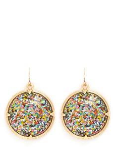 LULU FROST'Audrey' glitter dome drop earrings