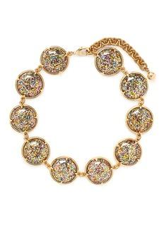 LULU FROST'Audrey' glitter dome station necklace