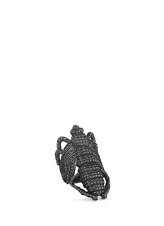 Lynn Ban 'Moth' diamond black rhodium silver ring
