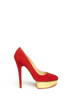 CHARLOTTE OLYMPIA Cindy suede platform pumps