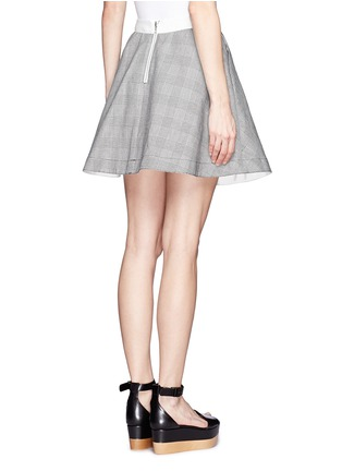 Back View - Click To Enlarge - Sacai - Plaid flare skirt