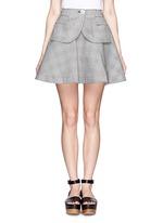 SACAIPlaid flare skirt