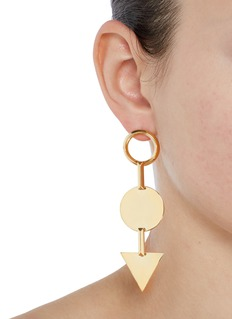 Eddie Borgo 'Mismatched Token' 12k gold plated earrings