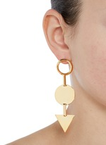 'Mismatched Token' 12k gold plated earrings