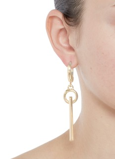 Eddie Borgo'O-Ring' bar drop 12k gold plated earrings