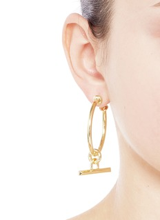 Eddie Borgo Toggle bar drop 12k gold plated earrings