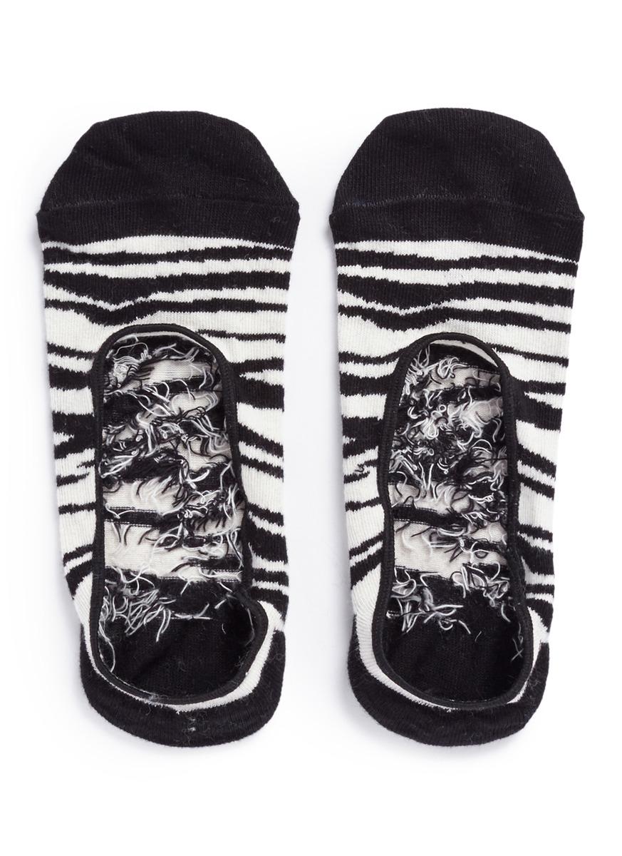 Zebra liner socks by Happy Socks