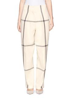 3.1 PHILLIP LIMWindowpane check wide leg pants