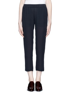 THEORY 'Korene' cropped pinstripe silk pants