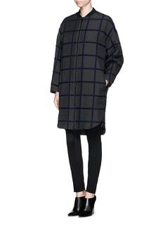 3.1 PHILLIP LIMWindowpane check wool bomber coat