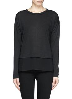 RAG & BONE'Eden' silk hem T-shirt
