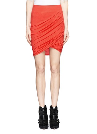 Main View - Click To Enlarge - Helmut Lang - Asymmetric twist modal-wool skirt