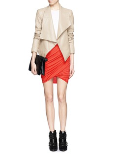 HELMUT LANG Asymmetric twist modal-wool skirt
