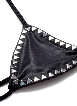 Detail View - Click To Enlarge - SAME SWIM - 'The Vixen' cross front stud triangle bikini top