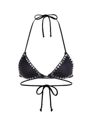 Main View - Click To Enlarge - SAME SWIM - 'The Vixen' cross front stud triangle bikini top