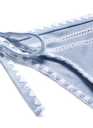 Detail View - Click To Enlarge - SAME SWIM - 'The Tease' side tie denim effect bikini bottoms