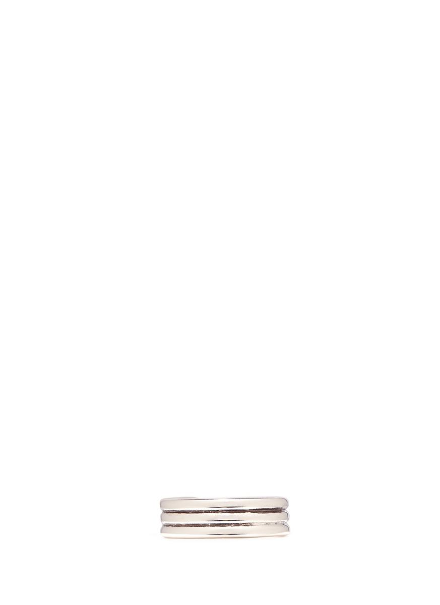 Stuart grooved open ring by Philippe Audibert