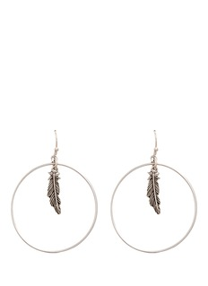 Philippe Audibert 'Athalia' feather charm circle drop earrings