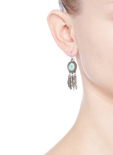 Philippe Audibert 'Athalia' marbled stone feather drop earrings