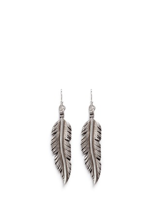 Main View - Click To Enlarge - Philippe Audibert - 'Tizziri' feather drop earrings