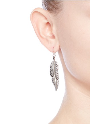 Figure View - Click To Enlarge - Philippe Audibert - 'Tizziri' feather drop earrings