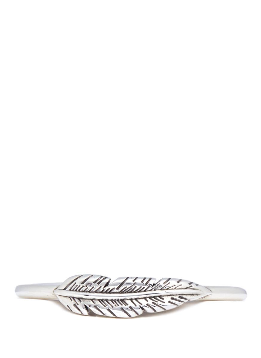 Tsiziri feather plate cuff by Philippe Audibert