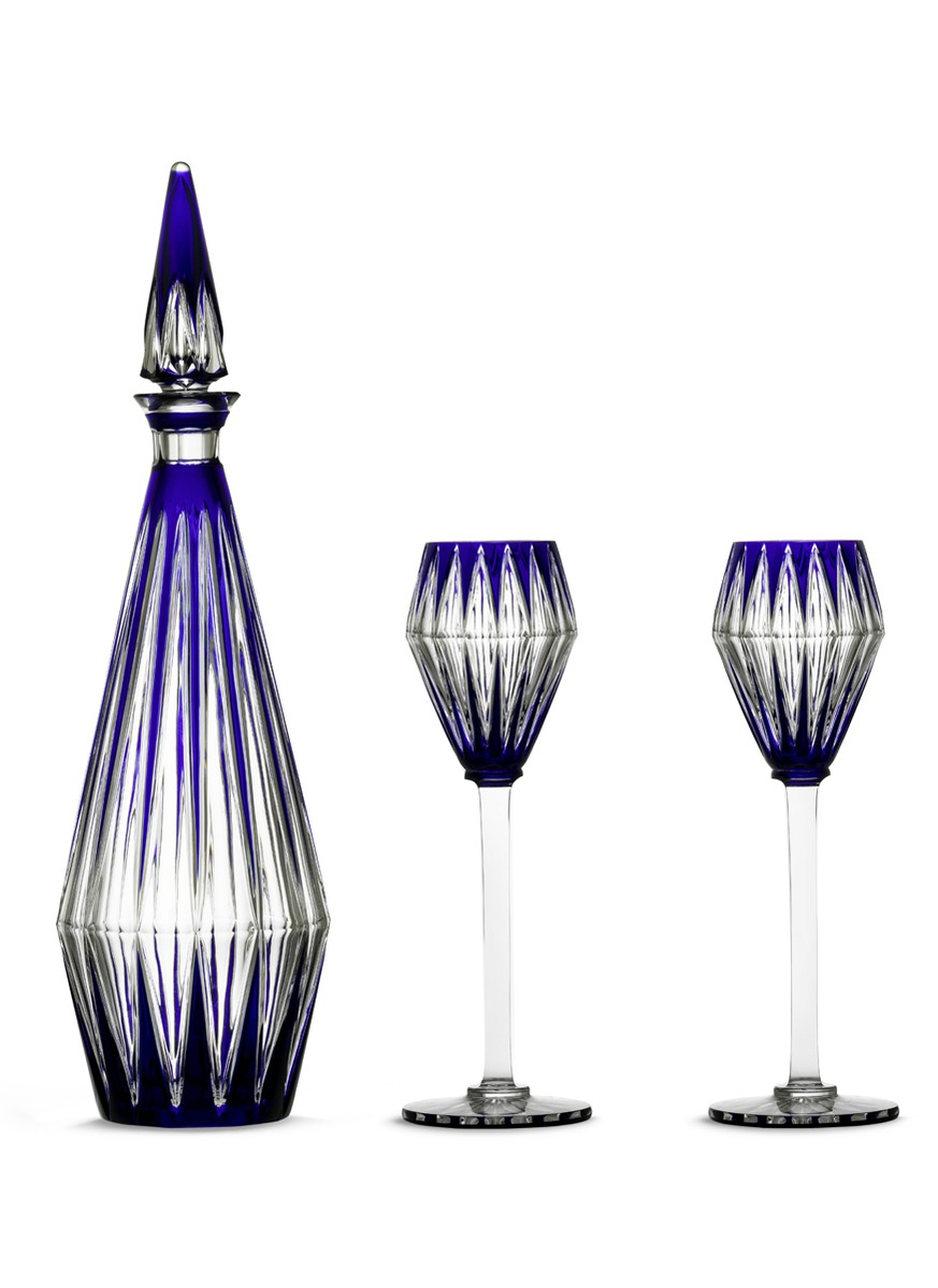 Service Chevalier limited edition bar set by Baccarat