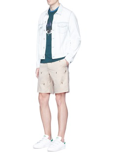 KENZOCartoon fil coupé twill shorts