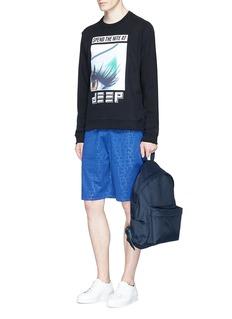 KENZOMonogram embossed tech jersey shorts
