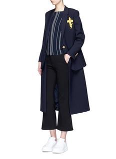 Neil Barrett'Fleur de Thunder' embroidered layered long coat