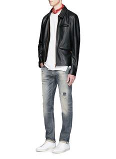 Scotch & Soda'Lot 22' cow leather jacket